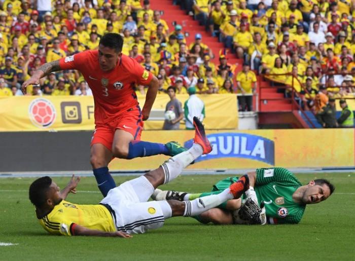 Qualificazioni Russia 2018, Colombia e Cile non si fanno male: 0-0 al Metropolitano