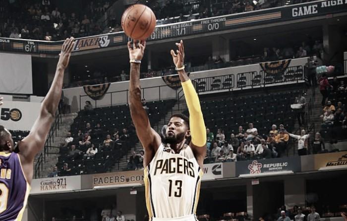 Em partida disputada, Paul George decide no fim, Pacers batem Lakers e conquistam segunda vitória