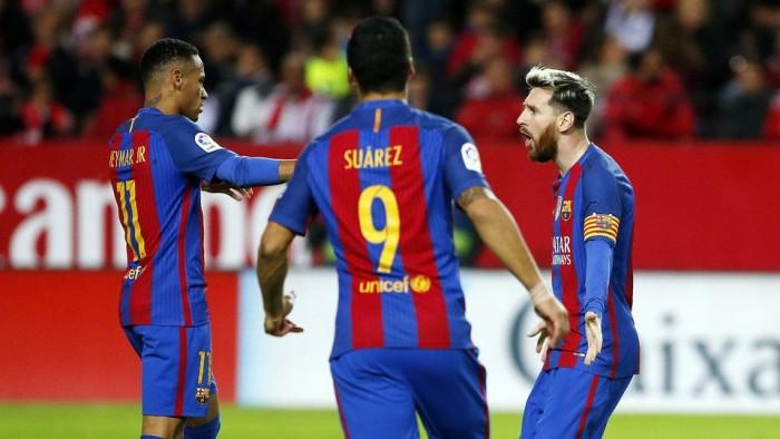 Il Barcellona vince in rimonta, 1-2 a Siviglia e gol numero 500 per Messi in blaugrana