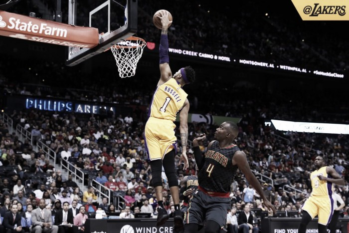 D'Angelo Russell marca 23 pontos, Lakers vence e derruba invencibilidade do Hawks