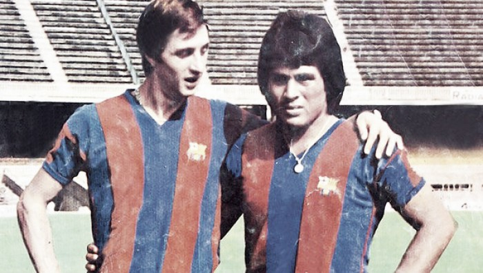 Cuando Johan Cruyff y Hugo Sotil eran fuerza temible en el Barcelona