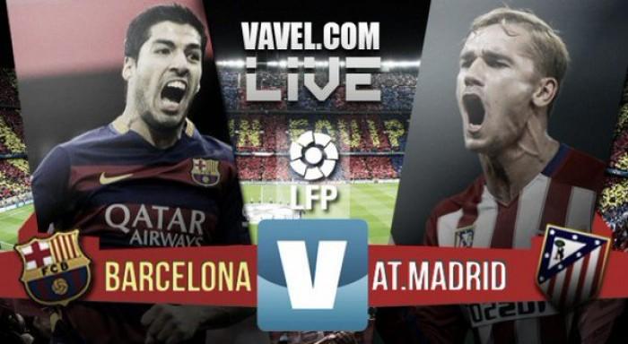 Barcellona Vs Atletico Madrid in La Liga 2015/2016 (2-1): Messi e Suarez regalano il successo al Barça