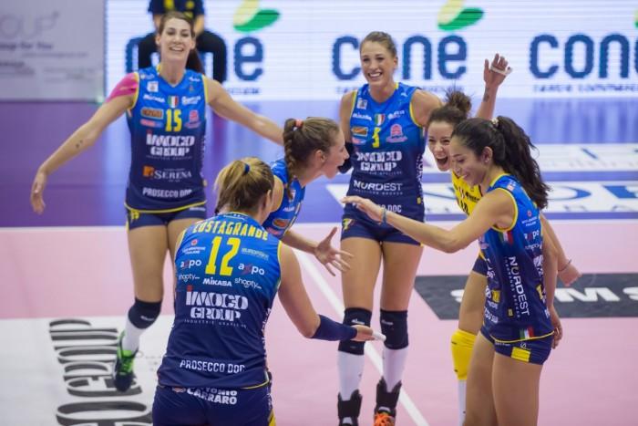 Volley - Serie A1 femminile: l'Imoco in scioltezza vince 3-0 contro Busto Arsizio