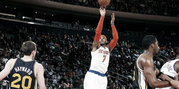 Carmelo Anthony brilló ante un Utah que no levanta cabeza