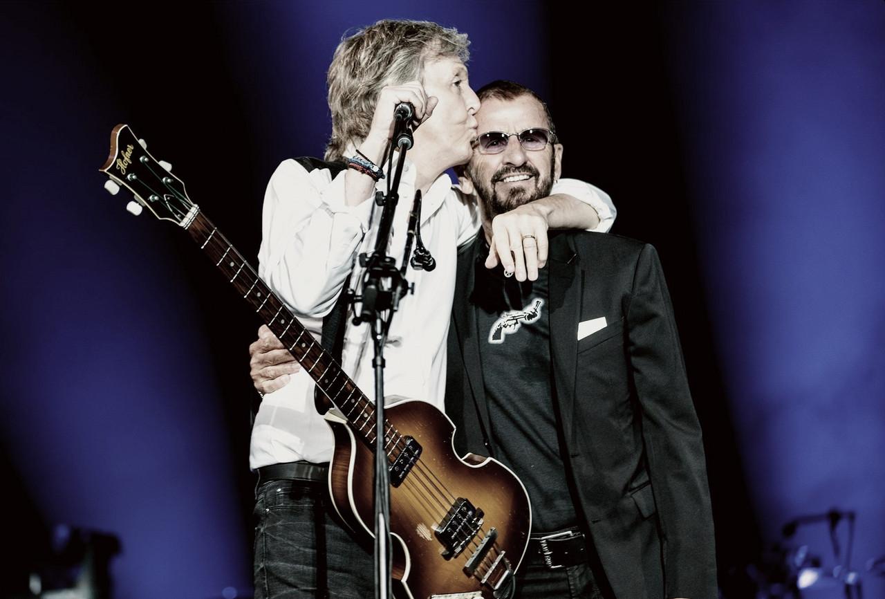 Paul y Ringo, unidos sobre un mismo escenario