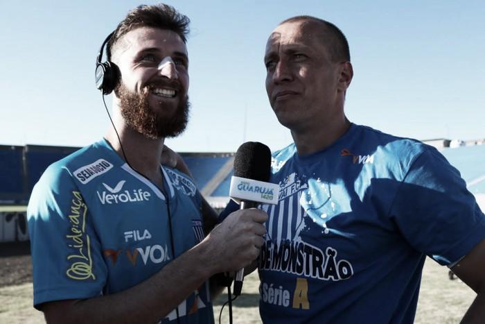 """Diego Jardel vibra com terceiro acesso seguido: """"Conseguimos colocar Avaí de novo nos eixos"""""""