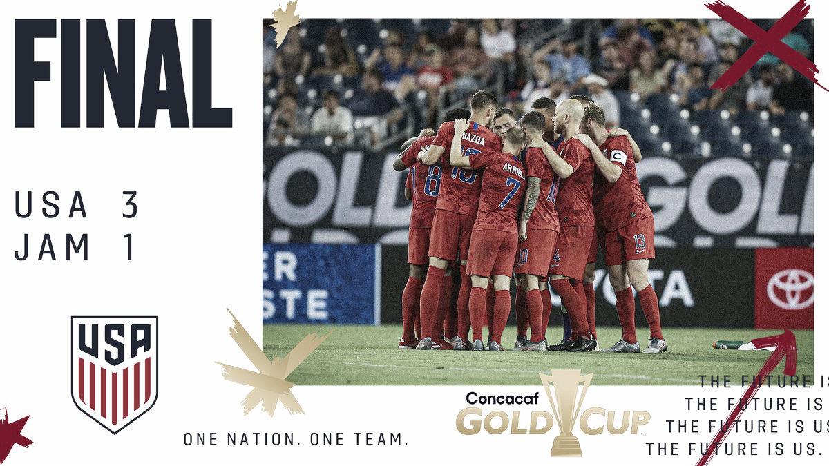 El campeón, EEUU, finalista de la Copa Oro 2019
