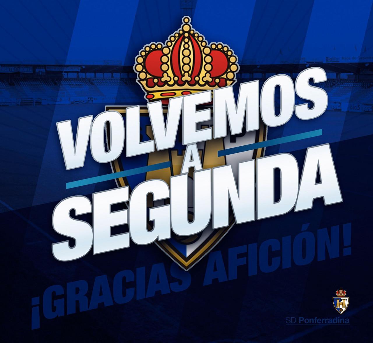 La SD Ponferradina vuelve a Segunda División