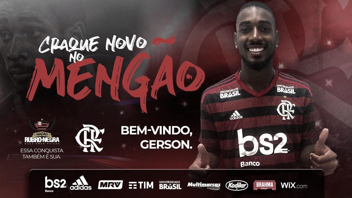 Após reviravolta, Flamengo acerta a contratação do meia Gerson, ex-Fluminense