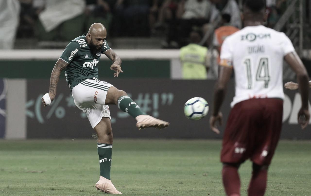 Felipe Melo comemora golaço em vitória e ironiza 'jogo feio' do Palmeiras