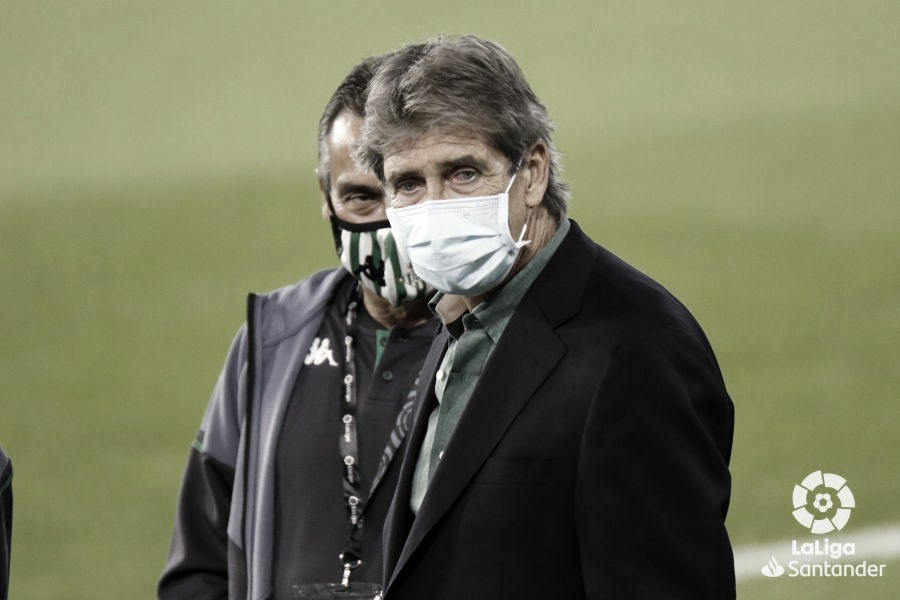 Pellegrini durante el partido contra la Real Sociedad | Foto: La Liga