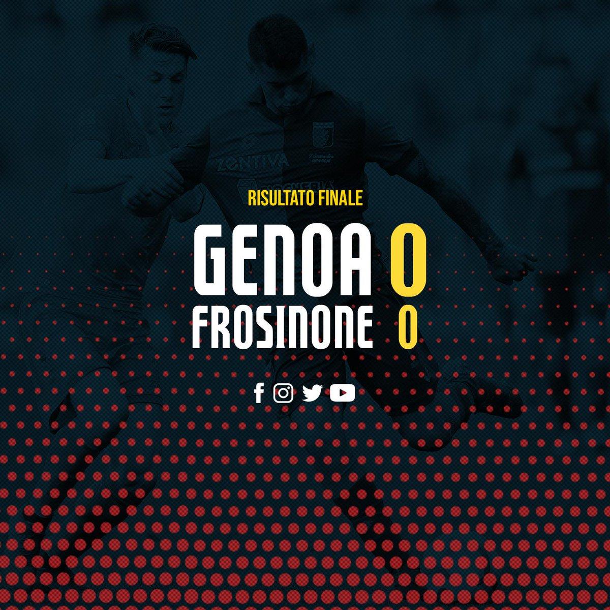 Serie A- Il Genoa spinge ma non segna, il Frosinone regge (0-0)