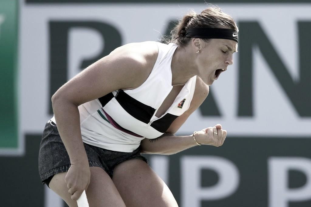 Sabalenka passa por Tsurenko e marca encontro com Kerber em Indian Wells