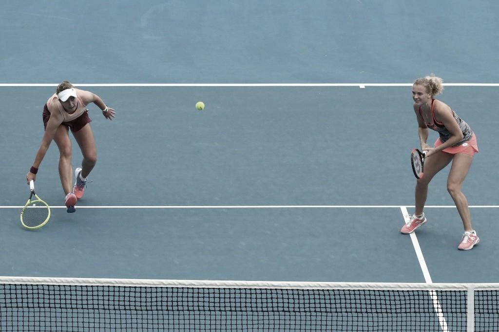 Siniakova/Krejcikova enfrentam Mertens/Sabalenka na final de Indian Wells