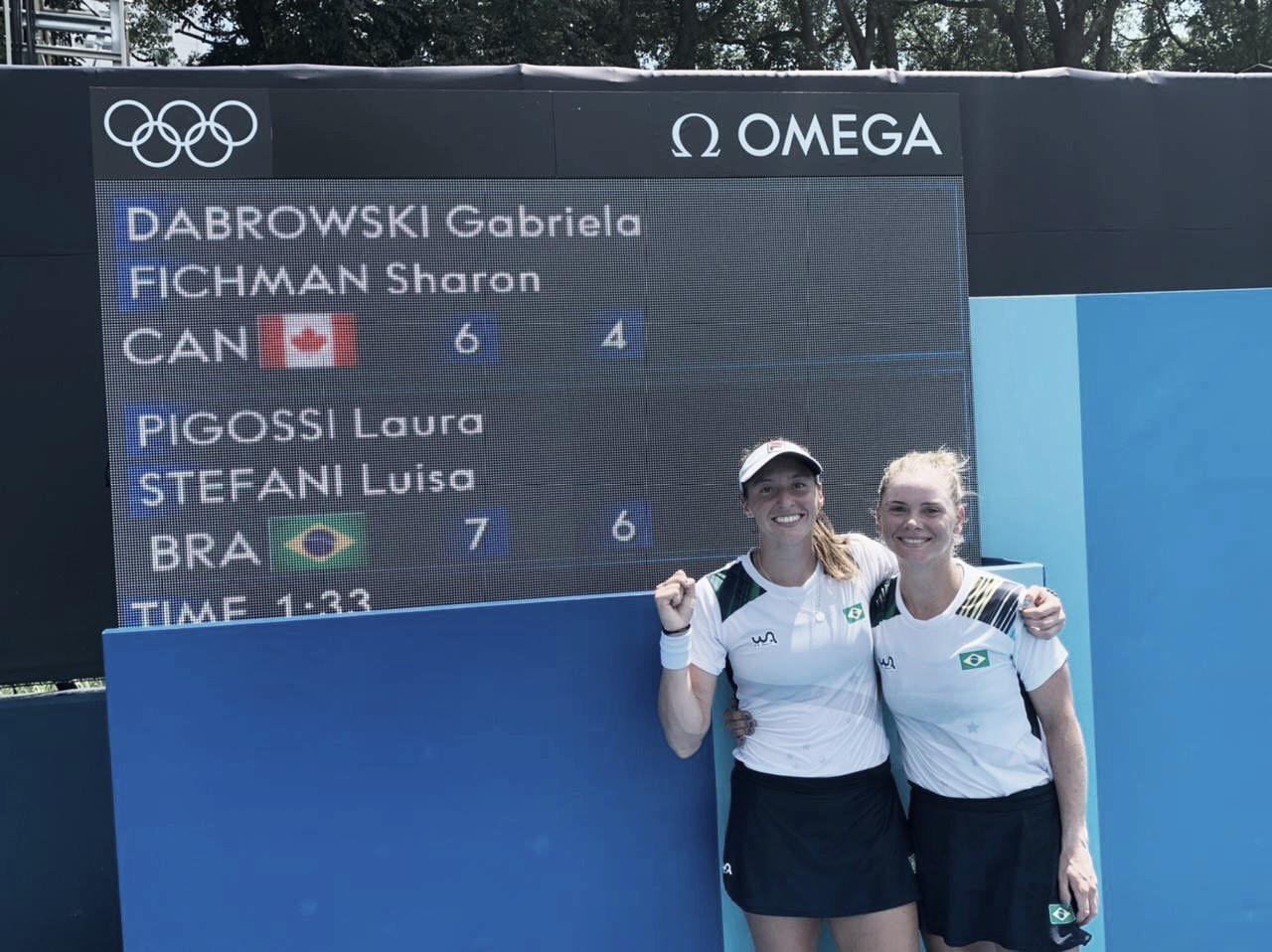 Pigossi/Stefani estreiam com grande vitória sobre Dabrowski/Fichman nos Jogos Olímpicos