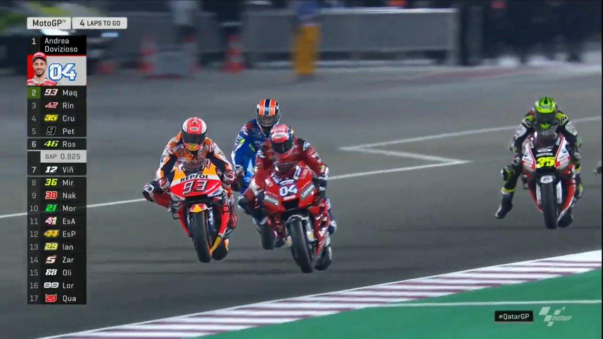 MotoGP Gp Qatar- Dovizioso su Marquez e inno di Mameli che suona a Losail