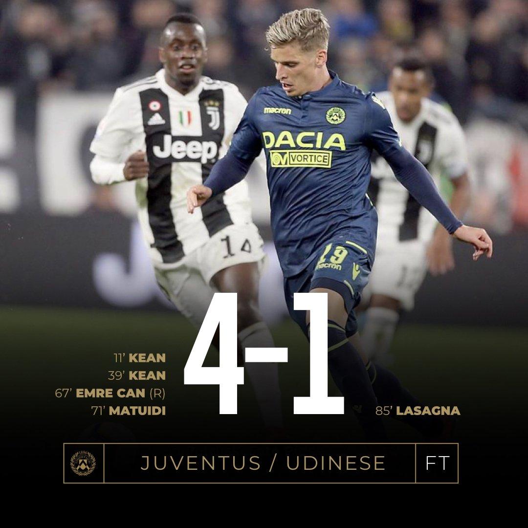 Serie A - Juventus in scioltezza su una morbida Udinese (4-1)