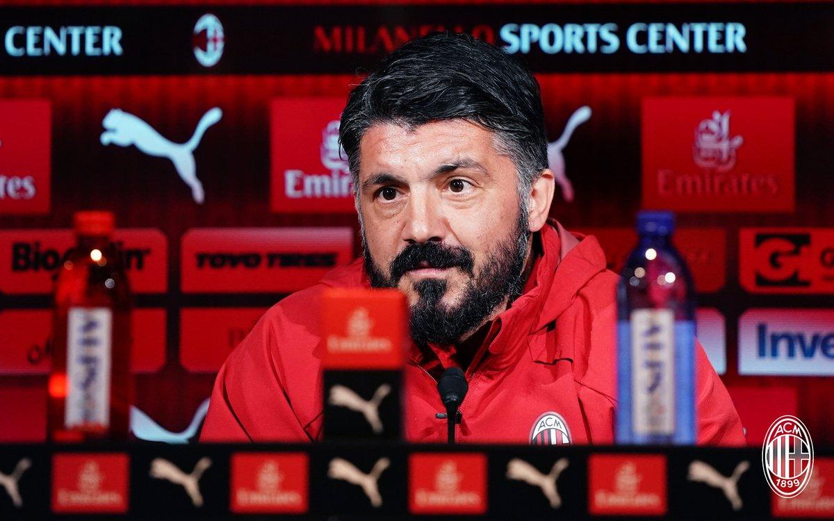 """Milan, Gattuso in conferenza stampa: """"Nel derby non ci sono favoriti"""""""