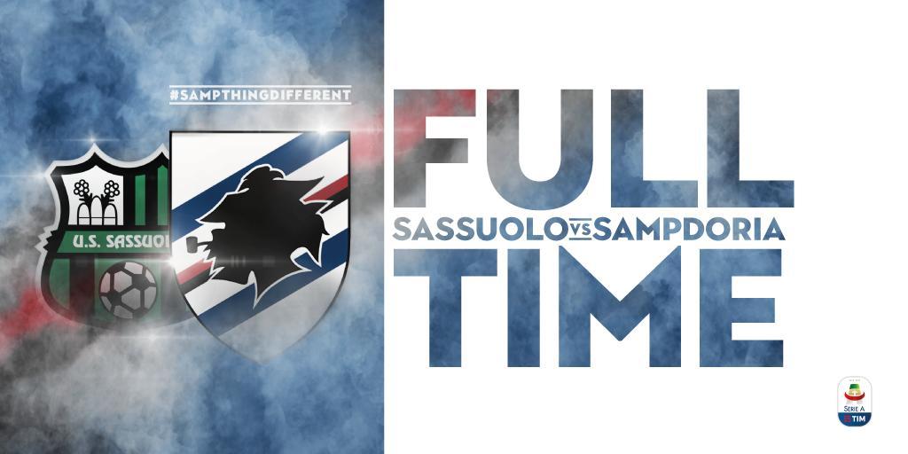 Una convincente Sampdoria annichilisce il Sassuolo: neroverdi KO 3-5 in casa