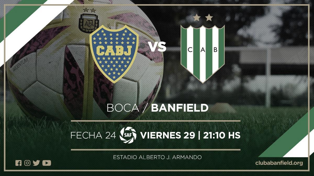Banfield palpita el duelo ante Boca (Foto: Banfield)