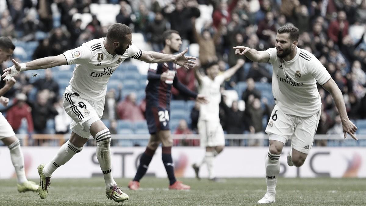 Com Benzemadecisivo, Real Madrid vence Eibar de virada pelo Campeonato Espanhol