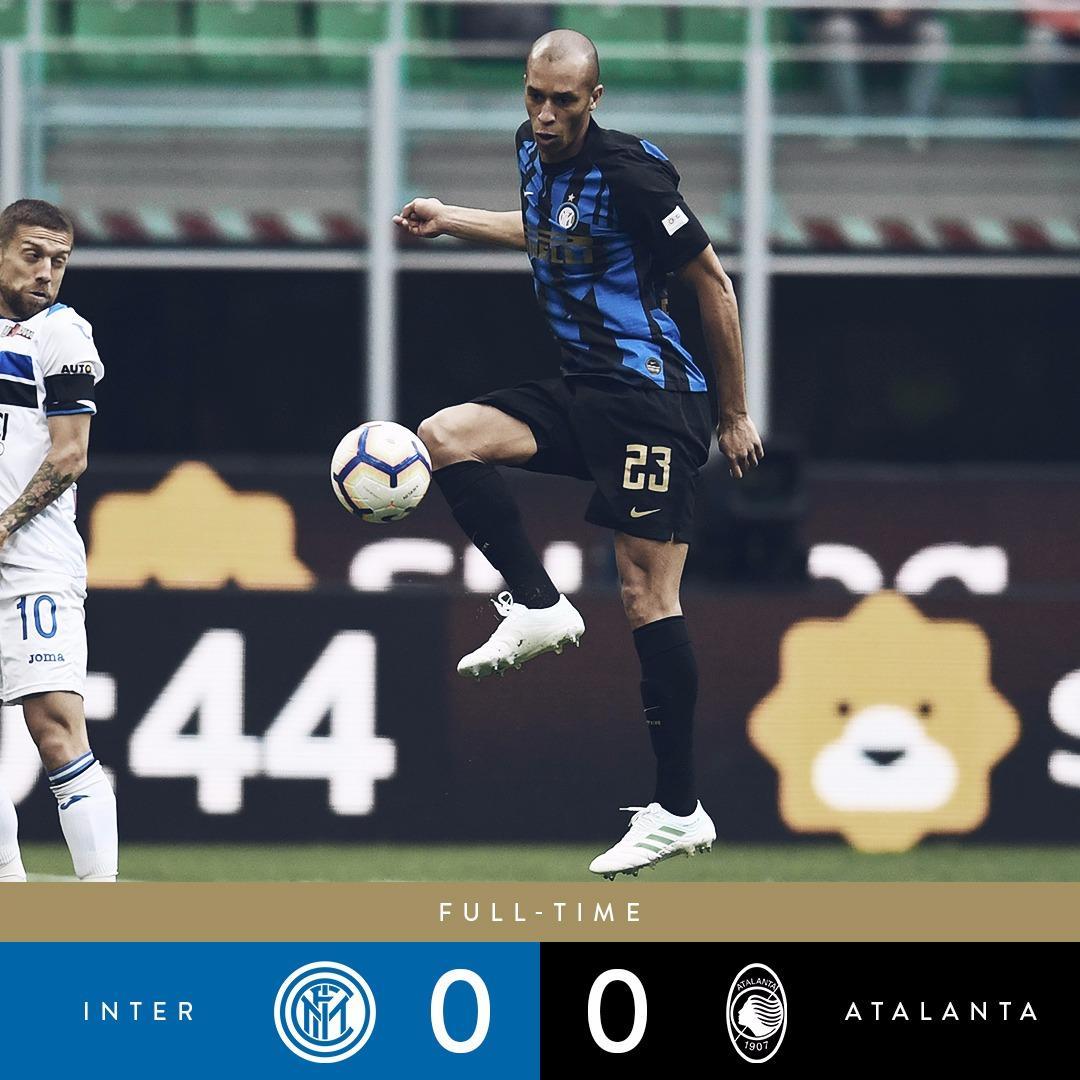 Serie A- L'Inter incappa nel pari contro una Atalanta davvero ottima 0-0