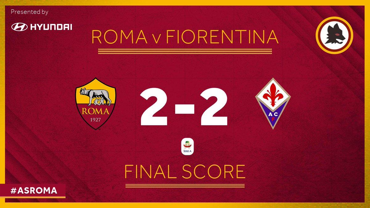 Serie A - Segnali di ripresa giallorossa ma all'Olimpico tra Roma e Fiorentina finisce 2-2