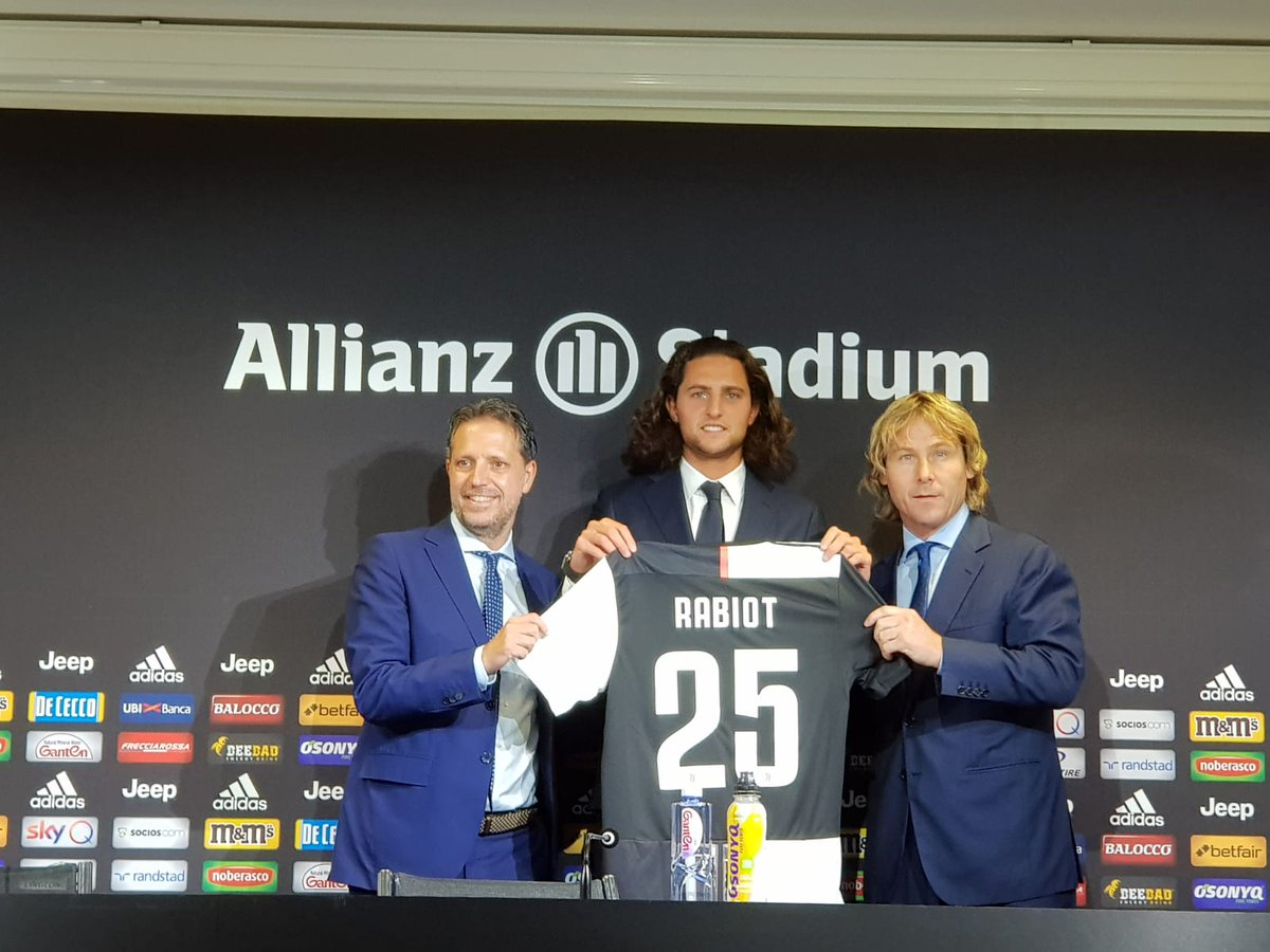 "Juventus- Si presenta Rabiot: ""Mi manda Gigi Buffon per vincere"""
