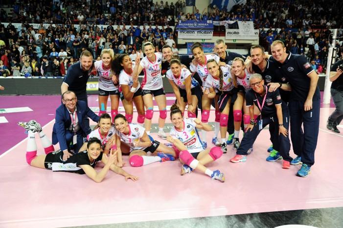 Volley, A1 femminile - Finale di play-off Scudetto, gara 3: Novara supera Modena 3-1