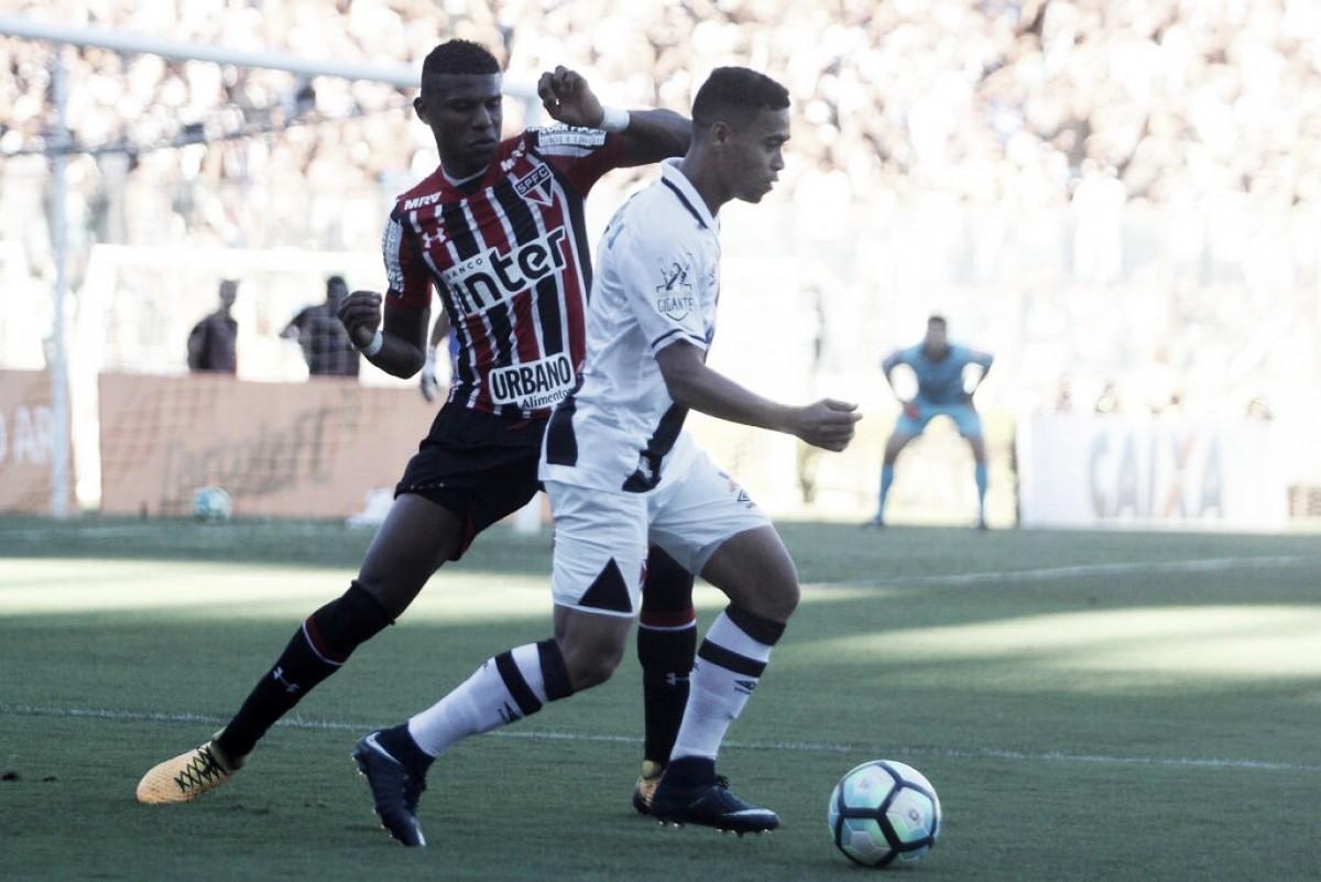 São Paulo recebe Vasco buscando assumir a ponta do Brasileirão