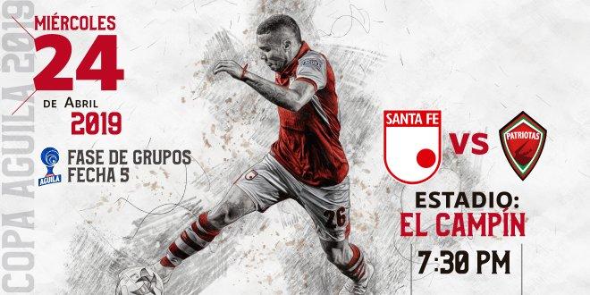 Convocados en Independiente Santa Fe para el juego ante Patriotas por Copa Aguila