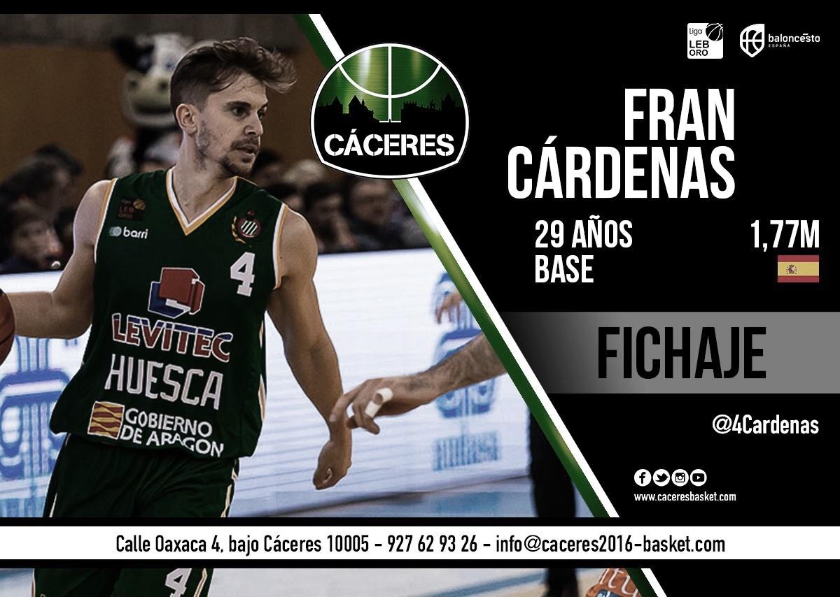Fran Cárdenas refuerza la dirección de juego de Cáceres Baloncesto