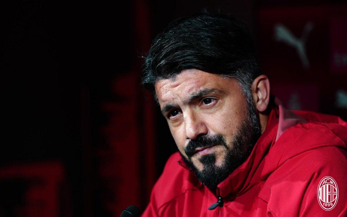 Milan, Gattuso presenta la gara contro la Lazio