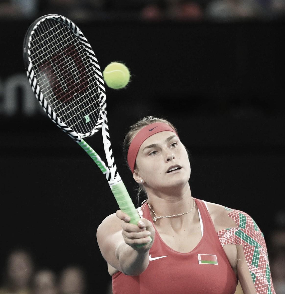 Sabalenka sobrevive a batalha contra Storur e dá primeiro ponto do dia à Belarus na Fed Cup