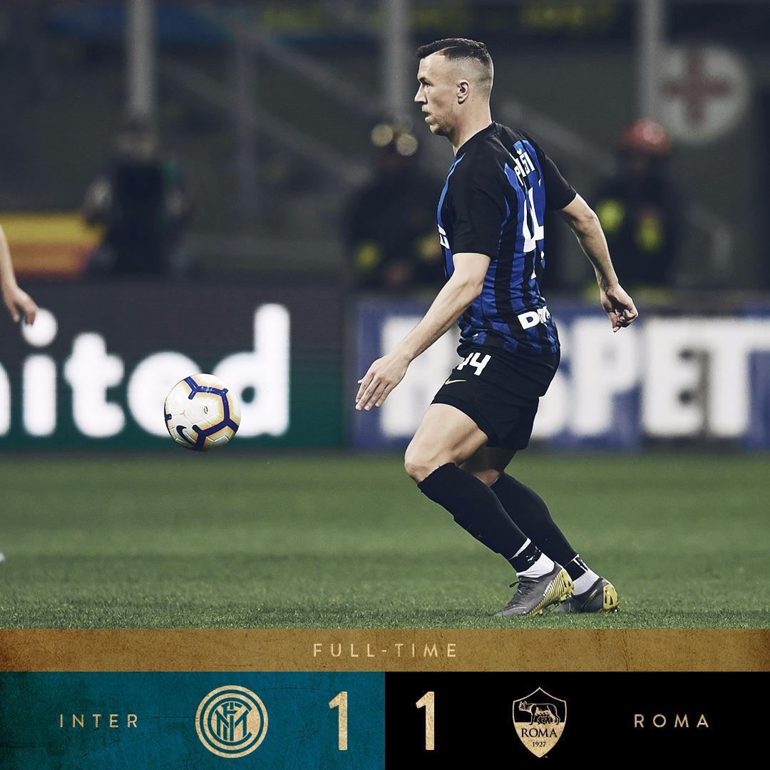 Serie A, Perisic risponde a El Shaarawy: tra Roma ed Inter finisce 1-1