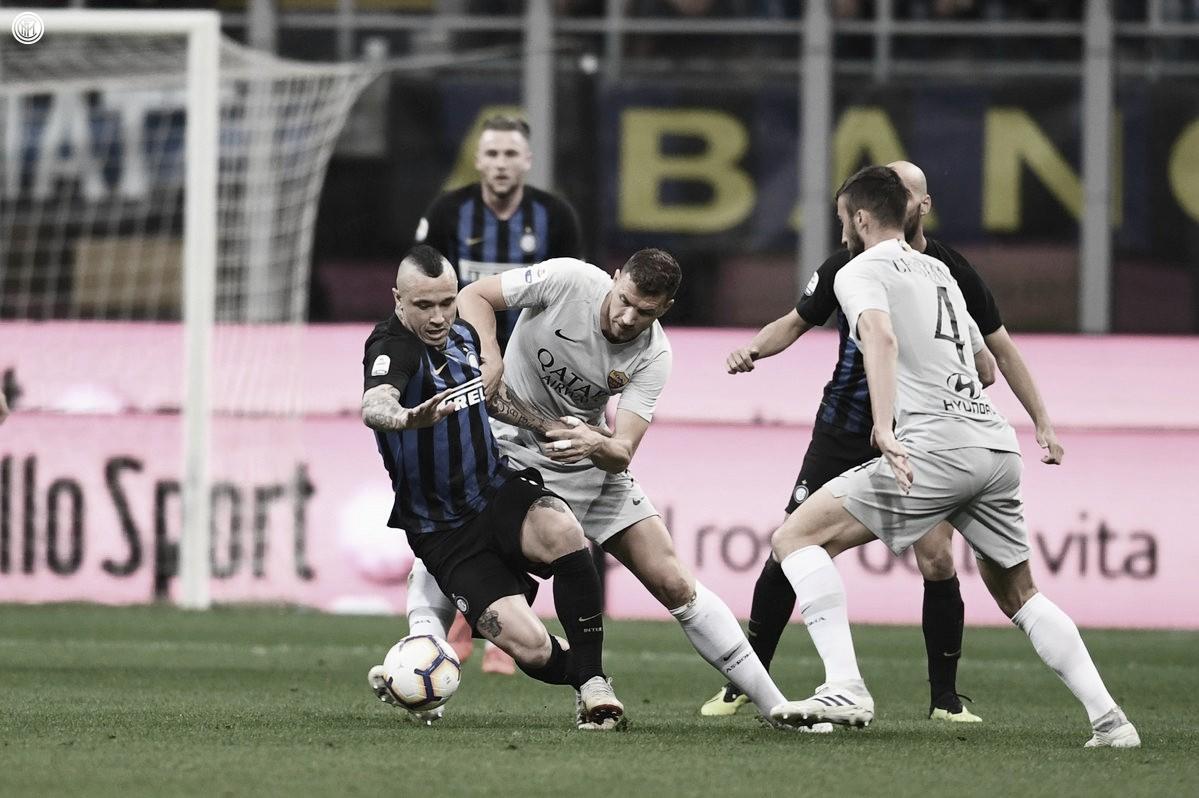 Em jogo truncado, Internazionale empata com a Roma em casa pelo Campeonato Italiano