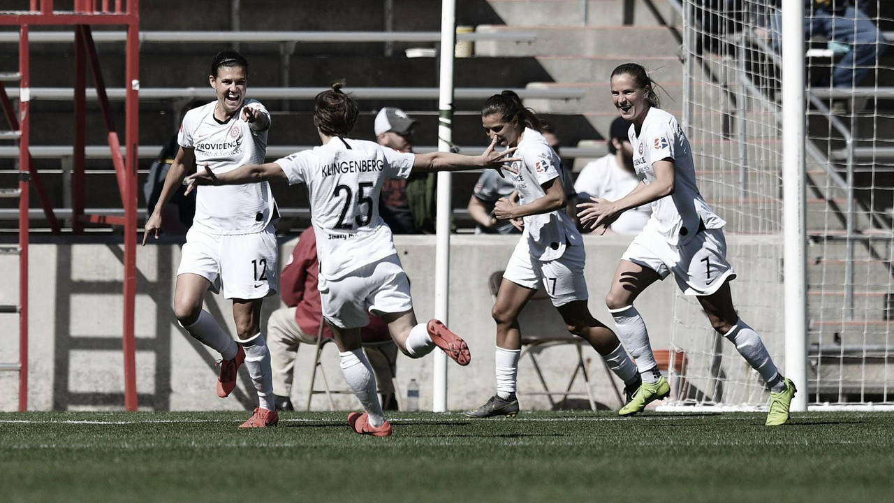 The Chicago Red Stars and Portland Thorns FC each score four goals in explosive draw