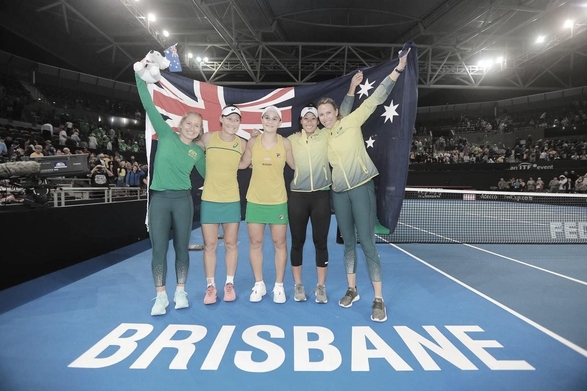 Austrália vence Belarus no duelo decisivo de duplas e vai à final da Fed Cup