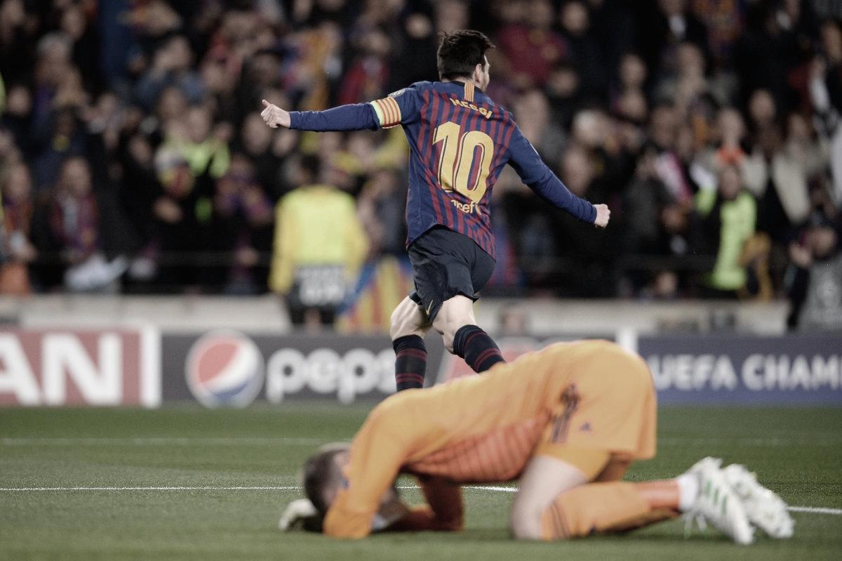 De Gea falha, Messi brilha, Barcelona atropela United e vai às semifinais da Champions League