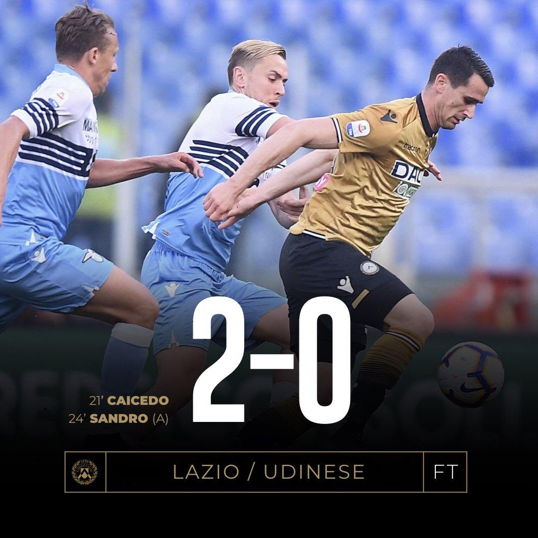 Serie A - L'Udinese ha il fiato corto, la Lazio va in scioltezza (2-0)