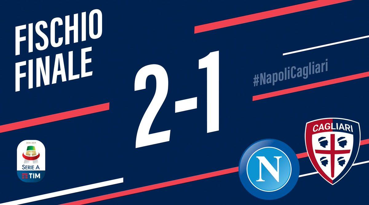 Serie A - Il Napoli batte in rimonta il Cagliari: 2-1 al San Paolo