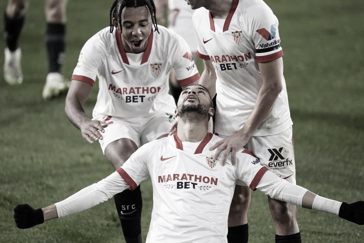 Celebración del gol | Foto: Sevilla FC
