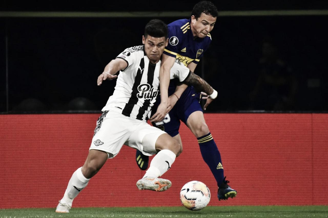 Leonardo Jara disputando su tercer encuentro en esta Copa Libertadores | Foto: Twitter.