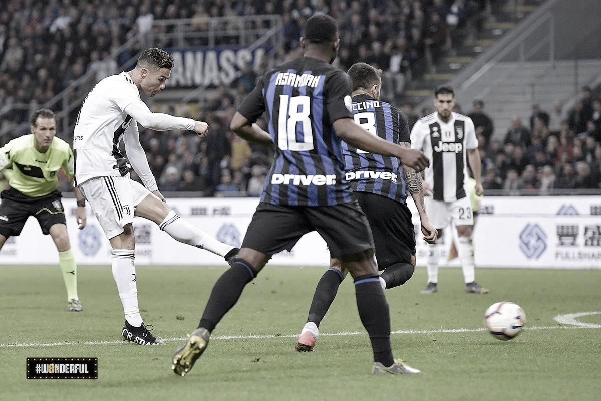 Cristiano Ronaldo marca 600º gol, mas Juventus empata com Internazionale