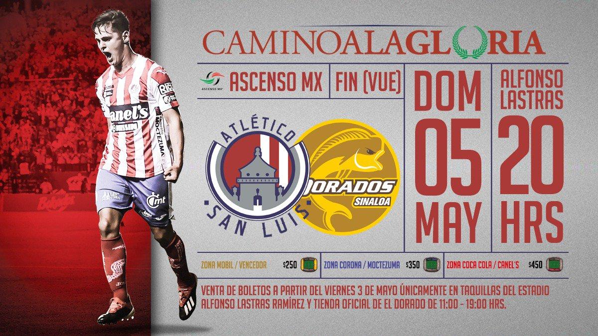 Precios boletos y dónde comprar: Atlético de San Luis vs Dorados en Gran Final