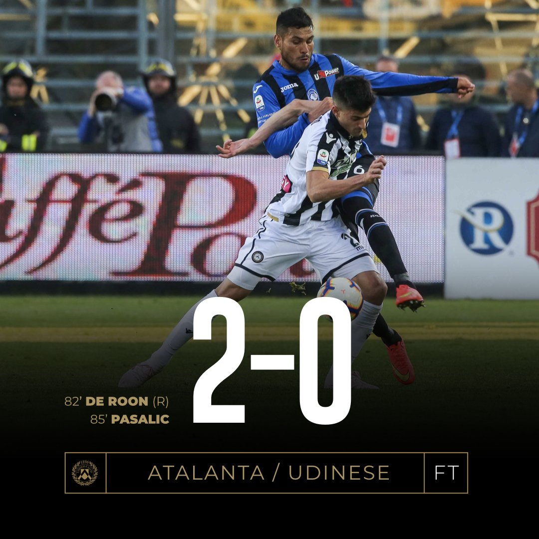 Serie A - Udinese orgogliosa, ma l'Atalanta vola ed è quarta (2-0)