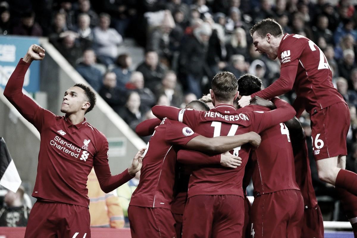Com gol de Origi, Liverpool venceNewcastle e segue vivo na briga pelo título do Inglês