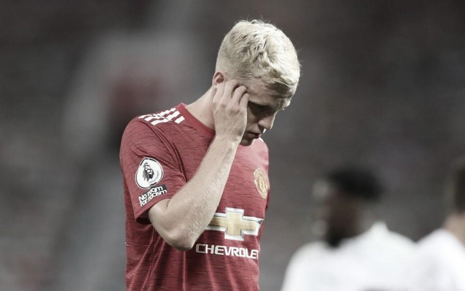 Donny van de Beek con el Manchester United. Vía: Premier League