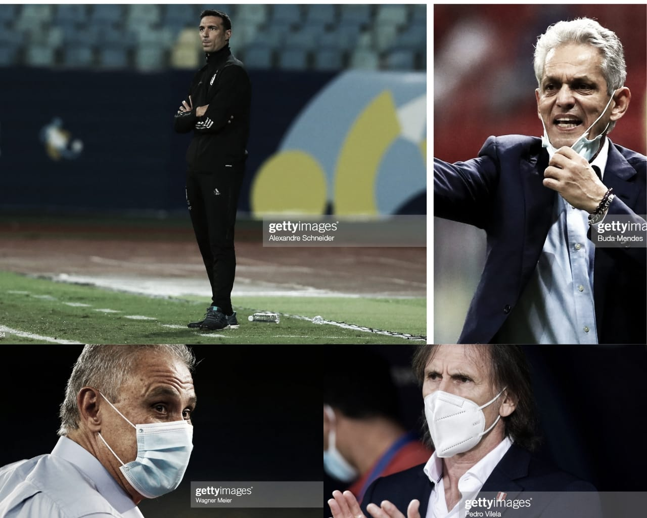 Los entrenadores semifinalistas de la Copa América 2021 son los mismos del 2019