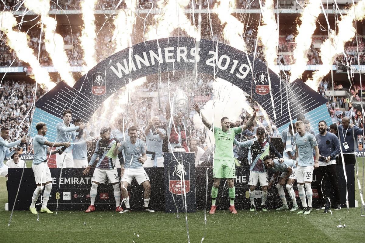 Manchester City massacra Watford, vence Copa da Inglaterra e conquista tríplice coroa